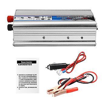 太陽光発電インバータ1000W真のDC 12VからAC 220V USB改変正波コンバータ車の電力インバーテ