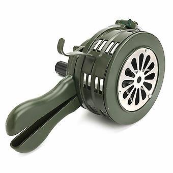 Handkurbelsirene Horn, Manuell bedient, Metallalarm Air-raid, Notfallsicherheit