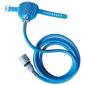 Pet bathing tool sprayer & scrubber in-one dog cat horse grooming tool