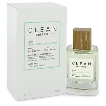 Clean Reserve Warm Cotton Eau De Parfum Spray By Clean 3.4 oz Eau De Parfum Spray