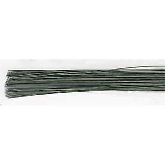 Alambre floral verde oscuro - calibre 22 (0,7 mm)