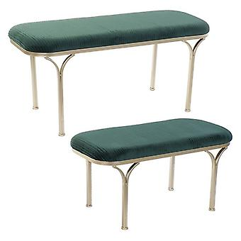 Bench Dekodonia Polyester Metal (2 pcs)