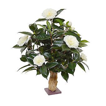 Kunstig Camelia kunstig plante 65 cm på basiscreme
