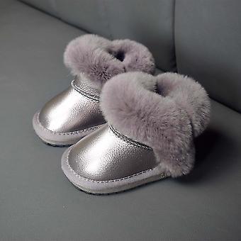 Microfiber Leather Waterproof  Non-slip Plush Infant Snow Boot