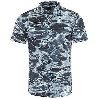 Armani Exchange Printed Short Sleeve Shirt - Navy Water