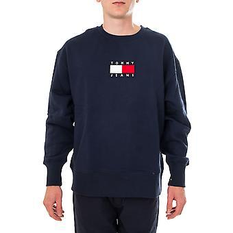 Sweat-shirt homme tommy jeans tjm petit équipage de drapeau dm0dm08488.c87