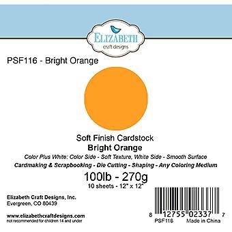 Elizabeth Craft Designs - Soft Finish Cardstock Bright Orange