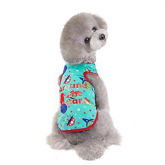 夏の宇宙ベスト子犬猫のペットの衣装