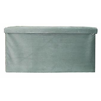 足の便折りたたみ可能な76 x 38 x 38 cmのベルベットの灰色