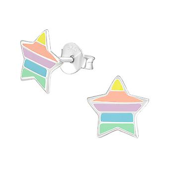 Girl's Sterling Silver S - Rainbow Star