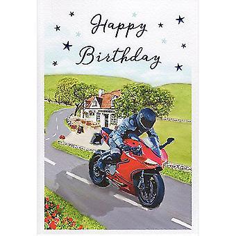ICG Ltd Open Birthday Card Essence Range - Motorbike