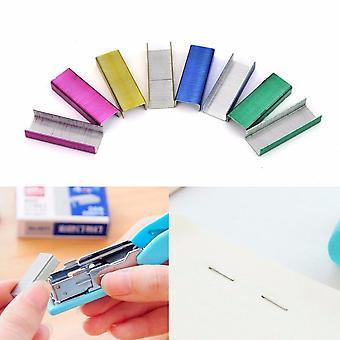 Värikäs nitoja kirjan niitit ompeleminen neula 1,2 cm kirja niitit 800kpl / laatikko
