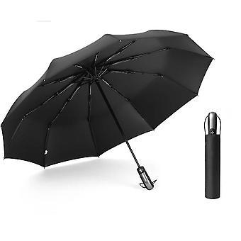 Rain Auto Luxury Big Windproof Umbrella Black Coating Parasol