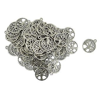 Antique Mental Round Tree Of Life Shaped Pendants Jewelry