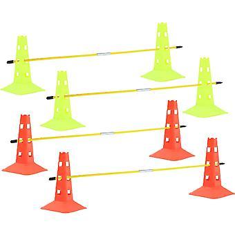 Gerui Soccer Agility Sets with 8 Cones 4 Poles