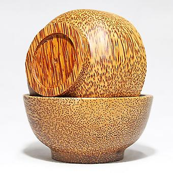 Natural coconut shell bowl tableware drop-resistant bowl