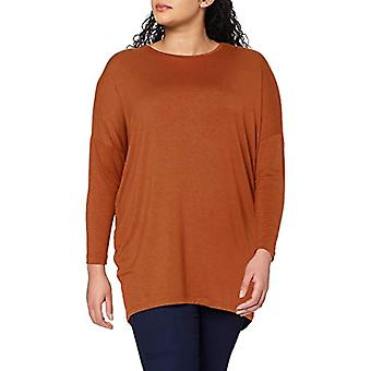 ONLY Carmakoma CARCARMA L/S Long Top Noos T-Shirt, Glazed Ginger, S-42/44 Woman