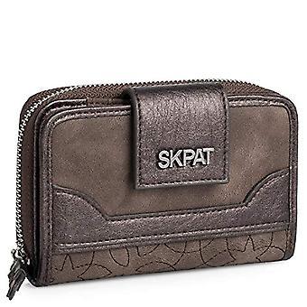 SKPAT - Dames portemonnee in kunstleer. Sluiting met boton en rits. Compartimenten voor kaarten, munten en bankbiljetten. Ref. Tekenen 8435583501798