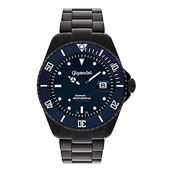 Gigandet SEA GROUND Automatic diving sports watch 300 m black/blue man/woman blue dial with date indication Ref. 4045425020345