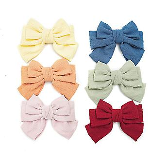 Hair ring women's three-layer big bow hair clip-multi-color