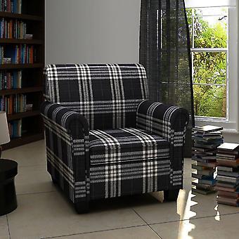 fotel vidaXL z tapicerką siedziska Czarna tkanina