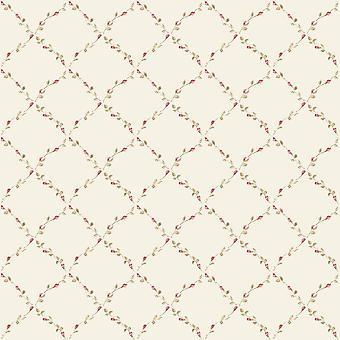 Norwall Floral Trellis Wallpaper