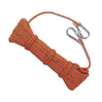 1000 * 0.8Cm orange 10m 8mm épaisseur d'escalade d'arbre sécurité élingage corde rappeleuse équipement de cordon auxiliaire pour le sport de plein air (orange) dt4026