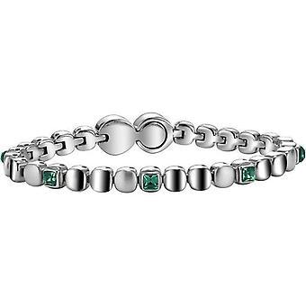 Breil jewels rolling diamonds collection w. green crystals size m swarovski bracelet tj1457