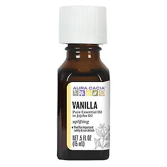 Aura Cacia Precious Essentials Oil, Vanilla Absolute W/Jojoba 0.5 Fl Oz