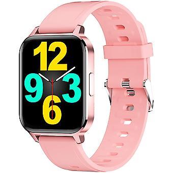 Smart Watch voor vrouwen, fitness tracker voor mannen, waterdichte IP68, 1,9 inch full screen Watch, fitness activiteit tracker, Roze
