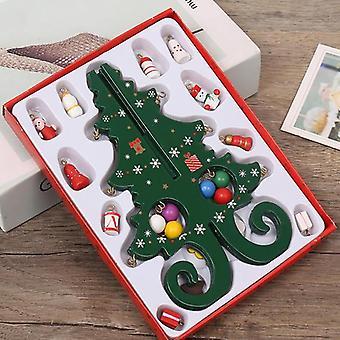 اليدوية ستيريو خشبية شجرة عيد الميلاد مشهد الزينة