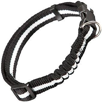 Arppe Adjustable Reflective Nylon Reflective Collar Surf Black and White