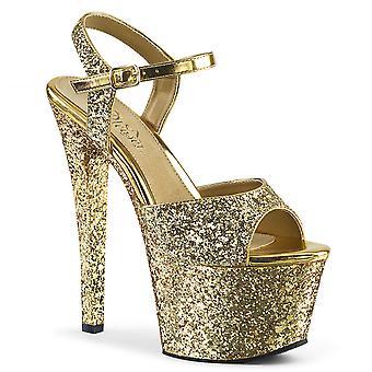 Pleaser zapatos de mujer SKY-310LG brillo de oro / brillo de oro
