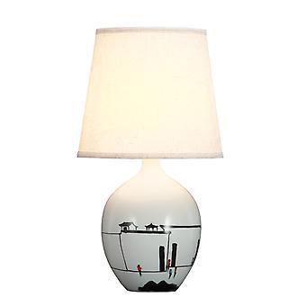 Grzywny Asianliving chiński stół lampa czarny biały sceneria D28xH51cm