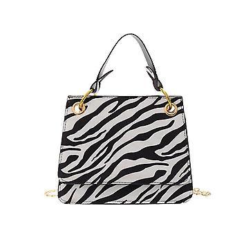 Crossbody Bags Lady Chain Travel Small Handbags Zebra Printed PU Leather Shoulder Messenger Bag for