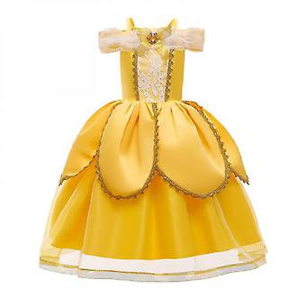 Christmas Party Fancy Costume Deluxe Princess Dress Up For Girls(100CM)