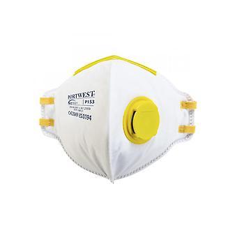 Portwest FFP1 Valvolato Dolomite Piega respiratore piatto P153