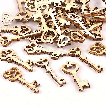 Key Pattern Wooden Ornament Diy Scrapbooking Crafts And Home Decoration
