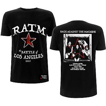 Rage Against The Machine - Battle Star Unisex Large T-Shirt - Black
