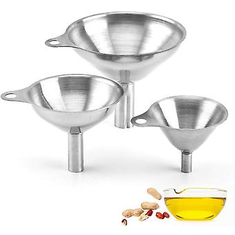 Stainless Steel Funnel, 3 Pieces Stainless Steel Funnel Strainer