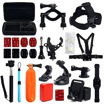 Kabalo 30-in-1 GoPro Hero2 3 3+ 4 Camera Accessories Set Kit Head Strap Chest Tri Mount
