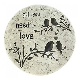 Summerfield Terrace All You Need Is Love Garden Stepping Stone, Pack of 1