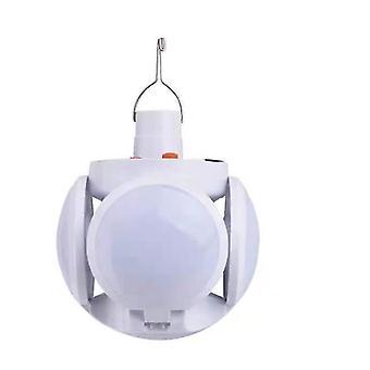 Lumière d'urgence solaire LED Football Garden Lampe Rechargeable
