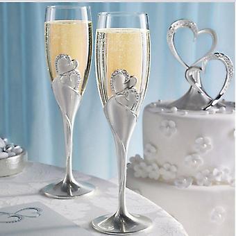 2Pcs Hochzeit Weingläser Champagner Gläser Weinglas Set Cocktail Glas Braut