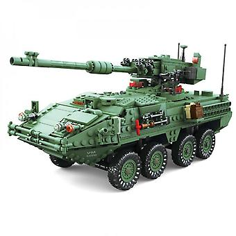 Simulation Of Military Armored Car Model Tower Rotating Collection Of Tank Toys