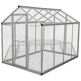 Fuglebur udendørs aluminium 178x242x192 cm