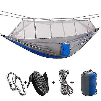 Hammocks 1-2 person portable outdoor camping hammock with mosquito net high strength parachute fabric hanging