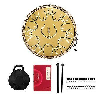 Stål tunga trumma 12,5 tum 15 ton handpan trummor tunga trumma kit slagverk musikinstrument