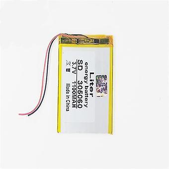 3.7v 1100mah Polymer Lithium Battery 305060 035060 Mp4 Mp3 Bluetooth Small
