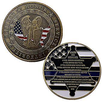 American Saint Michaels Patron Saint Bronze Collection de pièces commémoratives Pentagram Armor Warrior Médaille commémorative
